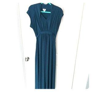 GORGEOUS deep teal Worthington maxi formal dress